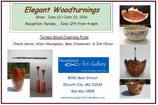 Elegant Woodturnings Exhibition Flyer